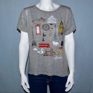 J. Crew London Destination Collector T-Shirt Grey